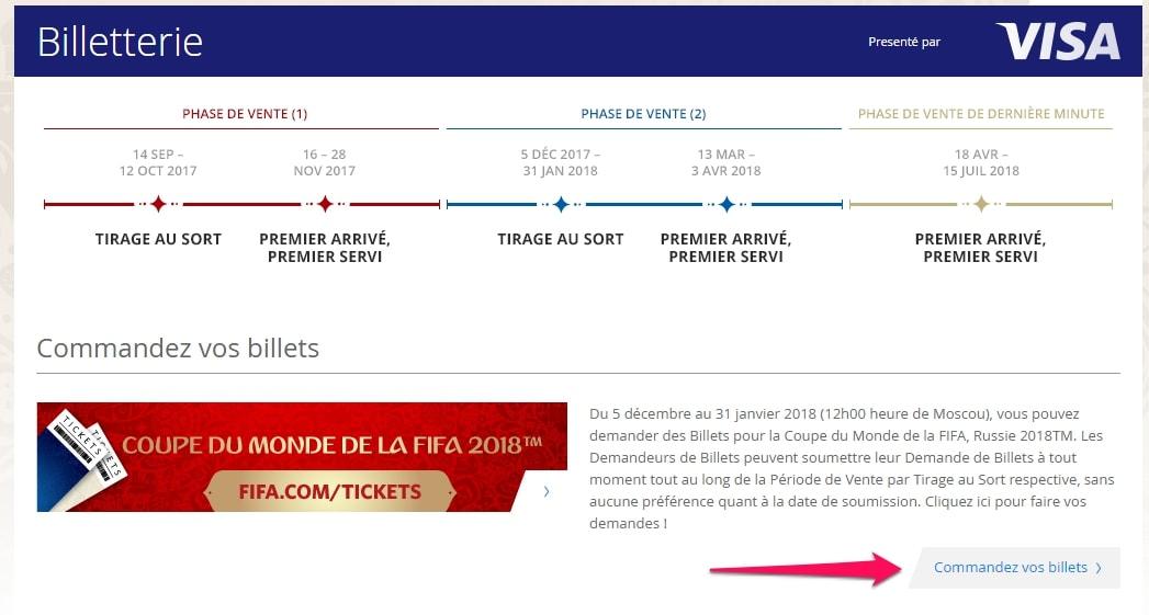 Comment acheter son billet pour assister au match de la - Billet coupe du monde 2015 ...