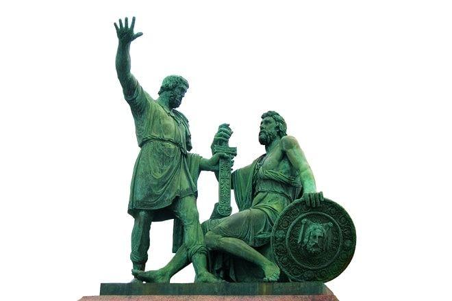 картинки памятник минину и пожарскому на белом фоне палладия